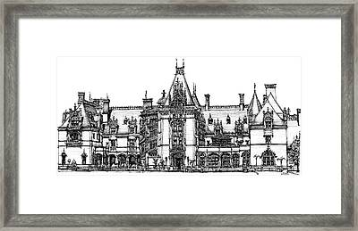 Biltmore House In Asheville Framed Print by Building  Art