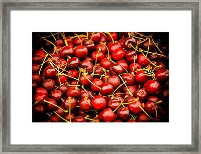 Bing Cherries Framed Print by Jen Morrison