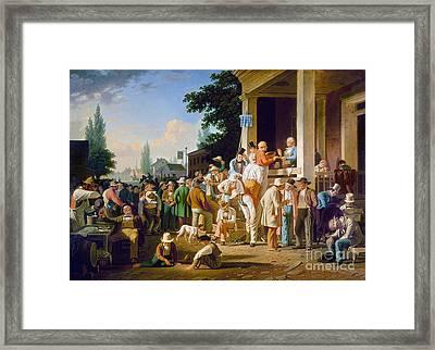 Bingham: Election, 1852 Framed Print by Granger