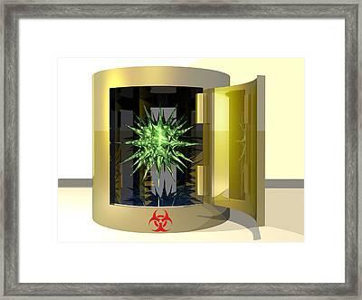 Biohazard Virus Framed Print by Laguna Design
