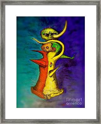 Biohazard  Voodoo Framed Print by Raul Morales