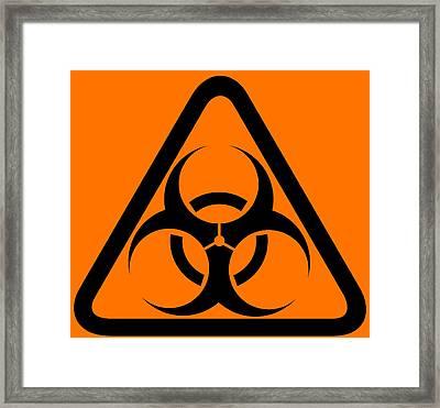 Biohazard Warning Sign Framed Print by