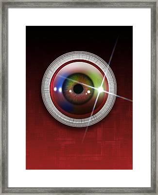 Biometric Eye Scan, Artwork Framed Print by Victor Habbick Visions