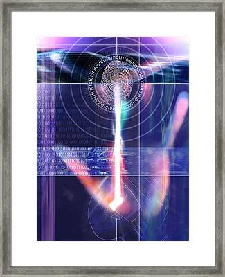 Biometric Fingerprint Framed Print