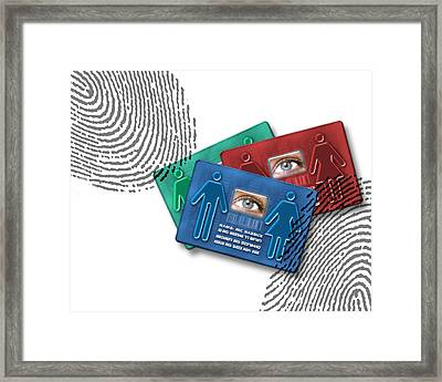 Biometric Id Cards Framed Print by Victor Habbick Visions