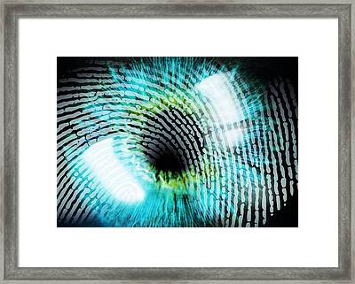 Biometric Identification Framed Print by Pasieka