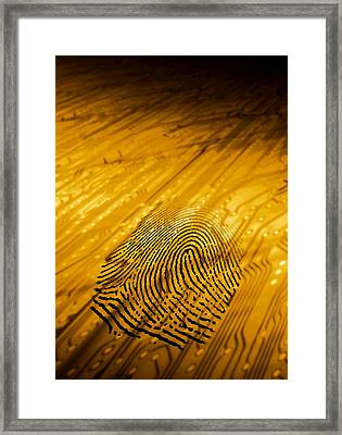 Biometric Security, Artwork Framed Print by Victor Habbick Visions