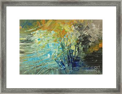 Framed Print featuring the painting Biosphere 2 by Tatiana Iliina