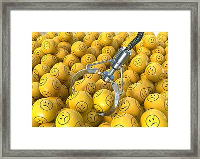 Bipolar Disorder, Conceptual Image Framed Print by David Mack