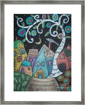 Birch Village Framed Print by Karla Gerard