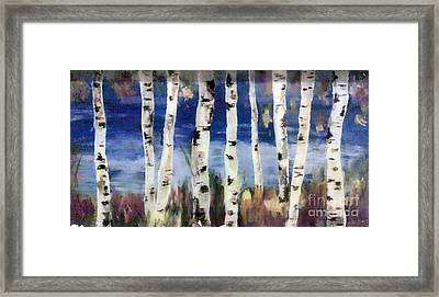 Birches Framed Print by Cathy Weaver