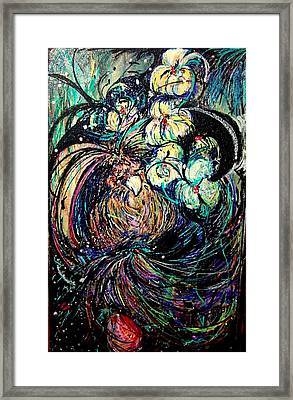 Bird And Flowers Framed Print