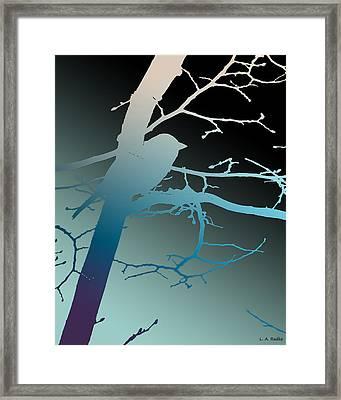 Bird At Twilight Framed Print