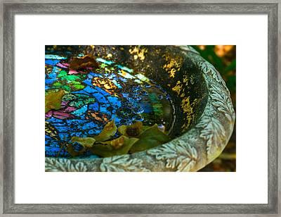 Bird Bath Mosiac Framed Print
