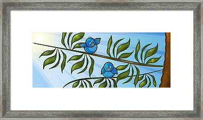 Bird Branch Framed Print by Melisa Meyers