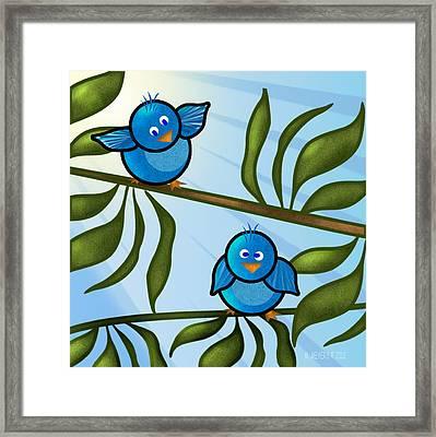 Bird Branch2 Framed Print by Melisa Meyers
