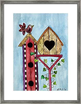Bird House Framed Print by Lisa Frances Judd