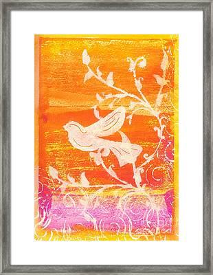 Bird In The Meadow Framed Print