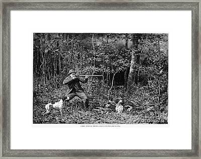 Bird Shooting, 1886 Framed Print by Granger