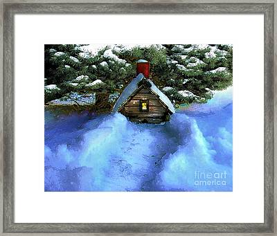 Birdhouse Grounded Framed Print