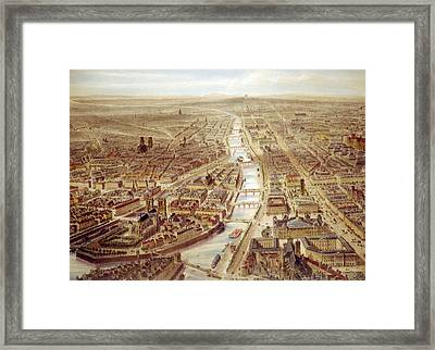 Birds-eye View Above The St. Gervais Framed Print by Everett