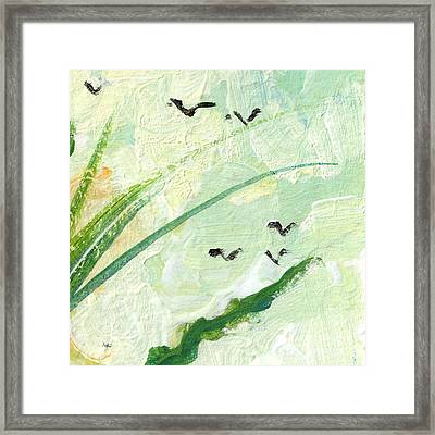 Birds Modern Abstract Painting Framed Print by Ginette Callaway