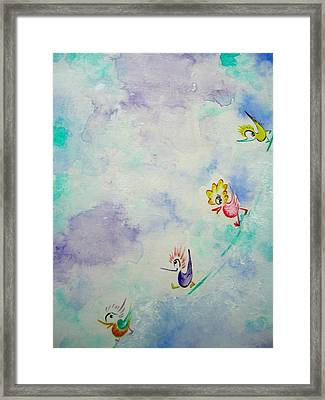 Birds On The Clouds  Framed Print by Asida Cheng