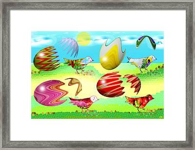 Birds Framed Print by Victoria Regueira
