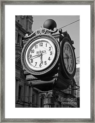 Birks Clock Framed Print