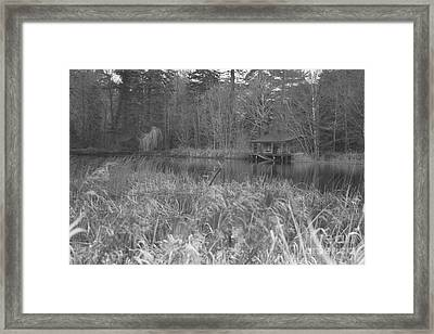 Birr Boathouse Framed Print by Mike  Connolly