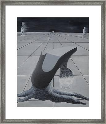 Birth Of A New Shoe Framed Print by Duwayne Washington