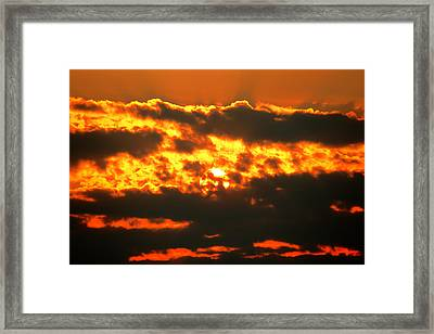 Birth Of A Sun Framed Print by Metro DC Photography