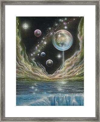 Birth Of A Universe Framed Print by Sam Del Russi