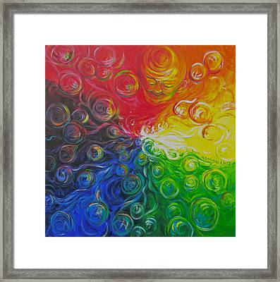 Birth Of Color Framed Print by Jeanette Jarmon