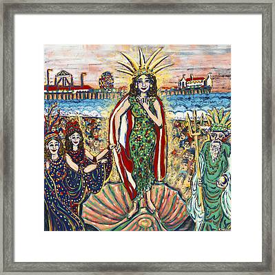 Birth Of The Mermaid Queen Of The Sea Framed Print