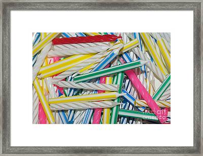 Birthday Candles Framed Print by Lynda Dawson-Youngclaus