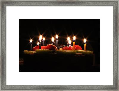 Birthday Lights Framed Print by Hope Williamson