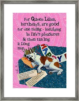Birthdays Are For Indulging Framed Print by Johanna Uribes