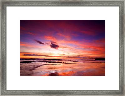 Birubi Point Sunset Framed Print
