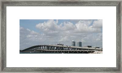Biscayne Bridge Framed Print by Jessica Jandayan