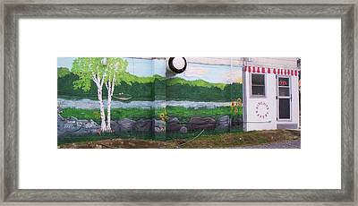 Biscuit's Bakery Mural Framed Print by SHER Millis