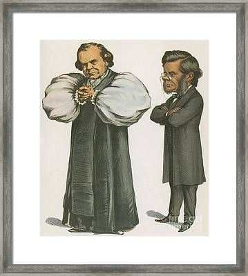 Bishop Wilberforce And Thomas Huxley Framed Print by Science Source