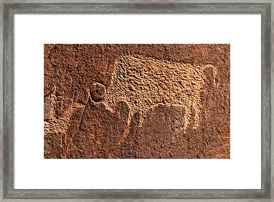 Bison Hunt Framed Print by David Lee Thompson