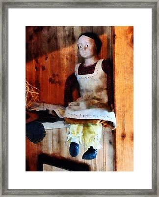 Bisque Doll Framed Print by Susan Savad
