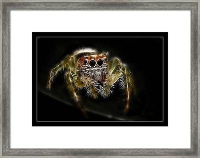 Framed Print featuring the digital art Bite Me by Kevin Chippindall