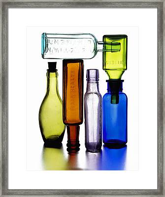 Bitters Bottles Framed Print by Michael Kraus