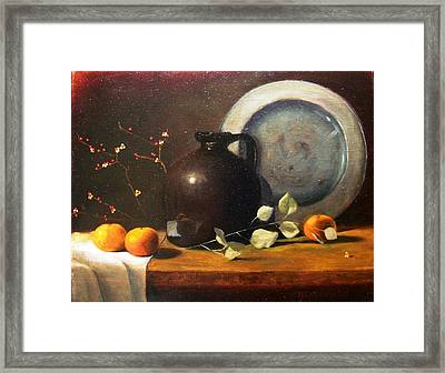 Bittersweet And Molasses Jug Framed Print by Tom Jennerwein