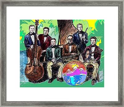 Bix Jazz Band Framed Print by Mel Thompson