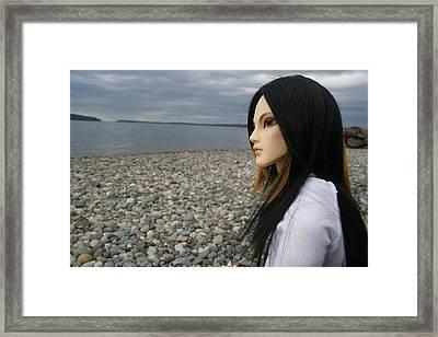 Bjd By The Sea Framed Print