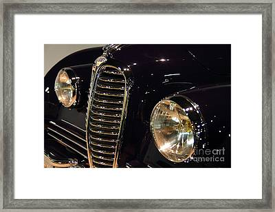 Black 1948 Delahaye . Grille View Framed Print by Wingsdomain Art and Photography